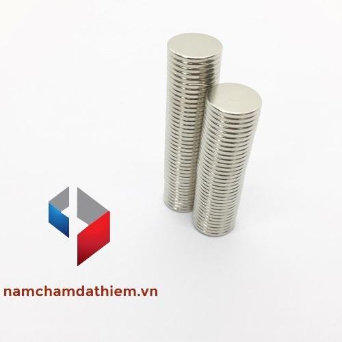 Nam châm viên tròn N35 D12x1 mm mạ Nikel