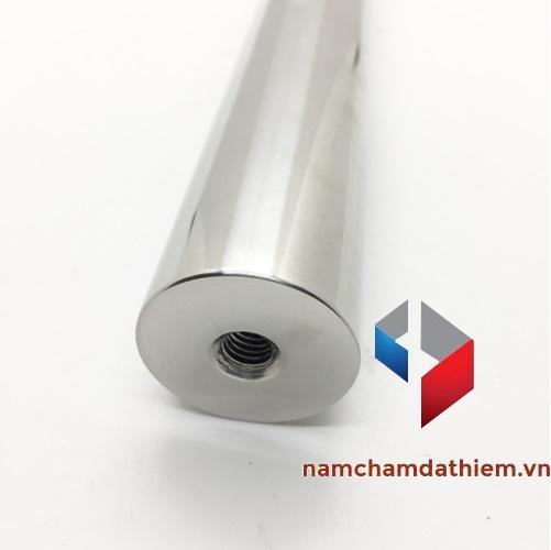 Nam châm thanh lỗ D20x300 mm mạ nikel D8x15