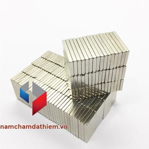 Nam châm hình khối L20x10x2 mm mạ Nikel