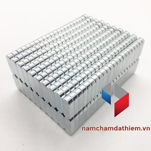 Nam châm hình khối L21x7.5x4.5 mm mạ kẽm